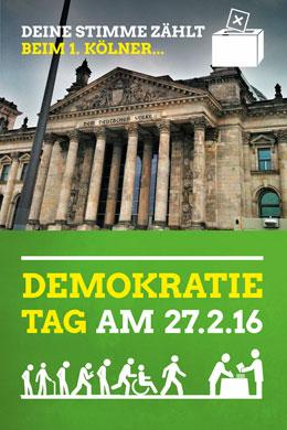Demokratie-Tag 2016: Gegen Wahlmüdigkeit & Parteienverdrossenheit! @ GRÜNE Köln | Köln | Nordrhein-Westfalen | Deutschland