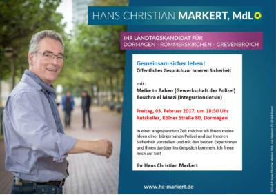 Gemeinsam sicher leben! Öffentliches Gespräch zur Inneren Sicherheit @ Ratskeller | Dormagen | Nordrhein-Westfalen | Deutschland