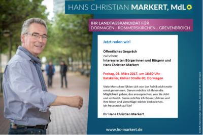 Jetzt reden wir! Gespräch mit Hans Christian Markert @ Ratskeller | Dormagen | Nordrhein-Westfalen | Deutschland