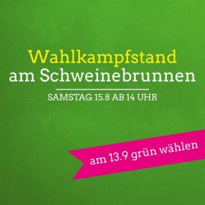 Wahlkampfstand am Schweinebrunnen @ Schweinebrunnen