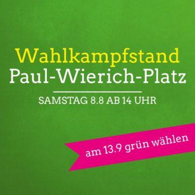 Wahlkampfstand Paul-Wierich-Platz @ Paul-Wierich-Platz