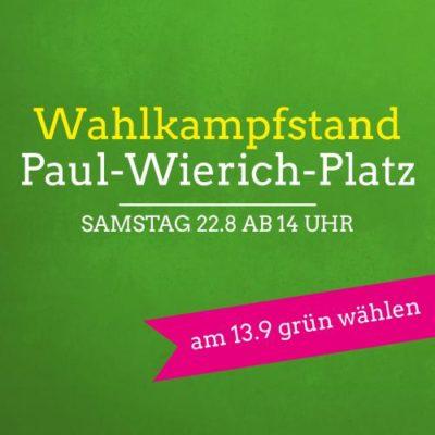 Wahlkampfstand am Paul-Wierich-Platz @ Paul-Wierich-Platz