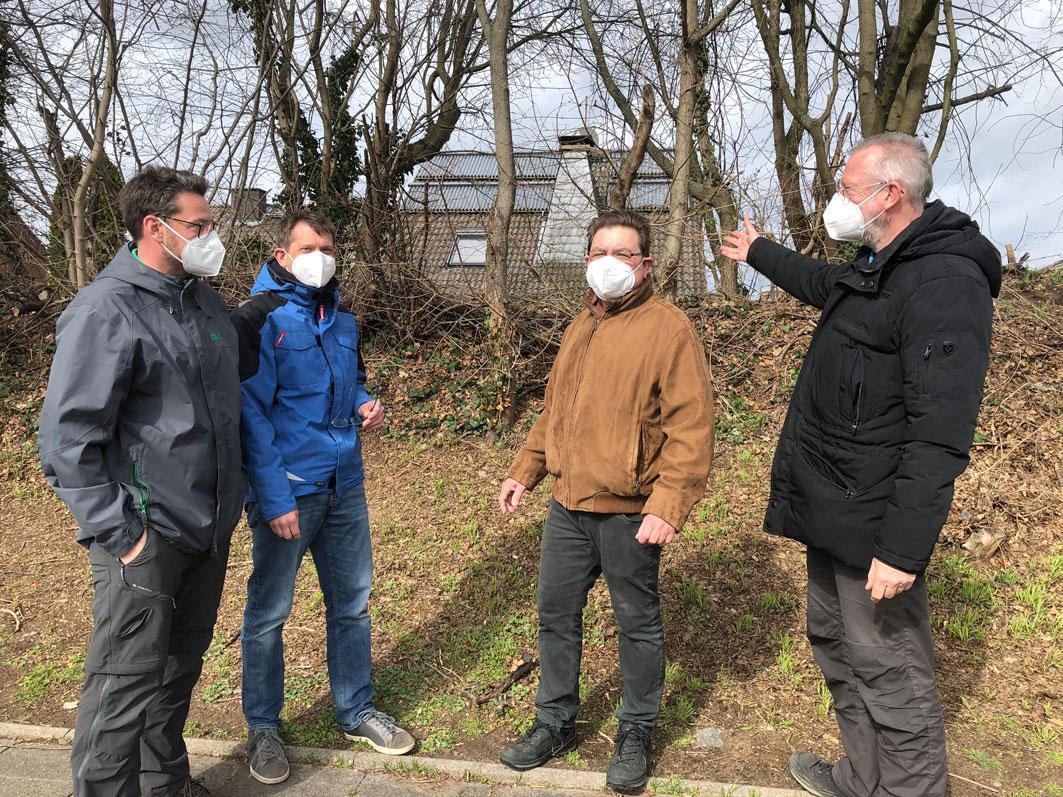 GRÜNE und Anwohner in Hackenbroich