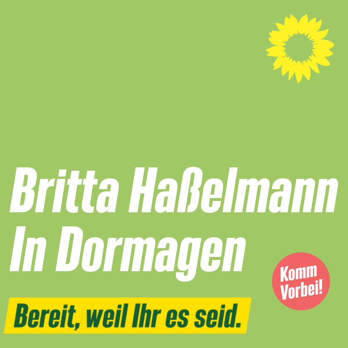 Britta Haßelmann in Dormagen